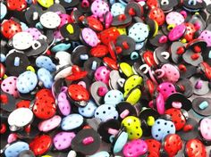 100pcs New Plastic Ladybug Button/sewing Mix ** To view further for this item, visit the image link.