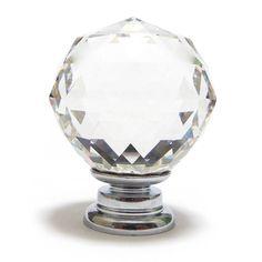 clear cut crystal ball glass cupboard knob by pushka knobs | notonthehighstreet.com
