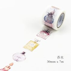 Cheap masking tape washi, Buy Quality adhesive tape diy directly from China tape diy decoration Suppliers: 30MM*7M Perfume Bottle  Masking tape  Washi Adhesive Tape Diy Decorative Paper Tape Papelaria Label Stickers Stationery
