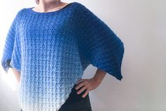 Crochet Poncho Pattern: Easy, unisex corner to corner crochet throw over Crochet Poncho Patterns, C2c Crochet, Crochet Shawl, Easy Crochet, Double Crochet, Crochet Wraps, Crochet Shrugs, Graph Crochet, Afghan Patterns