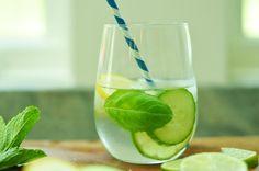 lemon, lime, cucumber water