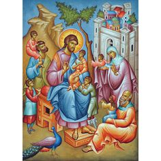 Christ Blessing the Children, medium icon - Ancient Faith Store