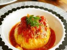 新玉葱の肉詰め♡トマト煮込みの画像