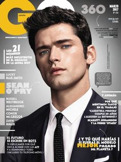 """The magazine """"Emily DiDonato, Sean O'Pry - V Magazine Cover [United States] September has been viewed 27 times. Sean O'pry, Lucky Blue Smith, Crush Facts, Handsome Male Models, Handsome Man, Cover Boy, V Magazine, Magazine Covers, Emily Didonato"""