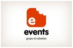 Events. Diseño y naming que recoge los conceptos del comer, el catering y los eventos. © 2012 Veintiocho Estudio Creativo. #logotipo #logotype #veintiocho