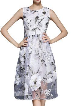 Floral Voile A Line Sundress | ZABUL.COM | $23.87