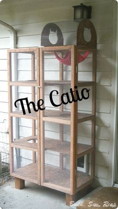 woodworking patio cat catio project, diy, homesteading, outdoor living, pets animals, repurposing upcycling
