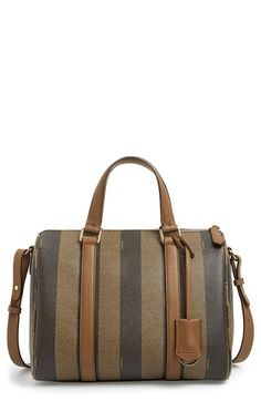 Smooth calfskin trim illuminates the signature stripes of a distinguished satchel in a structured, vintage-chic silhouette, while an optional crossbody strap p… Goyard Bag, Types Of Handbags, Yves Saint Laurent Bags, Beautiful Handbags, Wallets For Women, Clutch Bag, Fendi, Satchel, Nordstrom