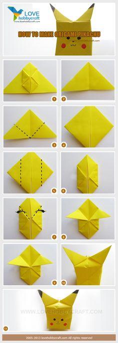 tuto origami pokemon