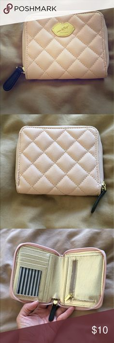 "Pink Betsey Johnson Wallet Excellent condition! Approximately 5"" wide and 4"" tall Betsey Johnson Bags Wallets"