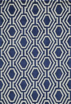 Bliss Hand-Tufted Navy Area Rug