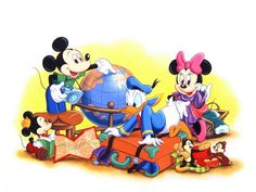 Cartoons Disney Company Mickey Mouse Donald Duck Minnie Mouse wallpaper | 1600x1200 | 187188 | WallpaperUP