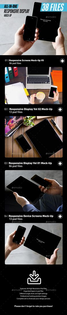Buy All-in-One Responsive Screens Device Mock-Up Bundle by itscroma on GraphicRiver. All-in-One Responsive Screens Device Mock-Up Bundle Featuring a Macbook Pro, iPhone Black and iPad Black and White. Mockup Design, Web Mockup, App Design, Psd, Design Templates, Business Card Mock Up, Business Brochure, Display Mockup, Mockup Photoshop