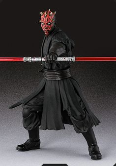 "S.H.Figuarts ダース・モール Photo 00 / S.H.Figuarts Darth Maul Photo 00 | TAMASHII Web: -Sith Apprentice- A popular character from the ""STAR WARS Episode 1 / The Phantom Menace"", Darth Maul appeared to S.H.Figuarts. Included the Impressive twin blade lightsaber, comes with a single-edged lightsaber of that showed in the fight against Obi-Wan. (http://tamashii.jp/special/sw/lineup_shf.html) #HOBBY #STARWARS #SHFiguarts #BANDAI #TAMASHII_Web"