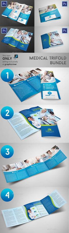 1. Medical Tri-fold Brochure Hi! Thank you for your purchase! Features: US Letter Size, Free Fonts Used, CMYK Color Mode, 300 Dpi,