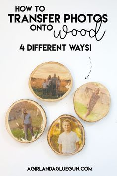 Check out this awesome how to-photo transfer to wood ! 4 different ways to achieve this cool affect! One has things found from around the house, mod podge, inkjet or laser printer! Lots of options! Learn Woodworking, Easy Woodworking Projects, Wood Projects, Putting Pictures On Wood, Picture Onto Wood, Wood Photo, Wax Paper Transfers, Image Transfers, Photo Transfer To Wood