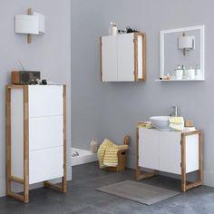 meuble colonne de rangement salle de bain 1 porte fonctionnelle elle occupe sans - Etagere Echelle Salle De Bain