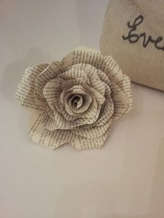DIY roses from book pages tutorial