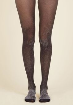 After meeting your absolute favorite DJ - and scoring a compliment on these sheer black tights, of course - you brace yourself for a life-changing show. With silver sparkles threaded throughout, these tights are the bass drop of your ensemble, showing you're ready for any jam that's thrown down!