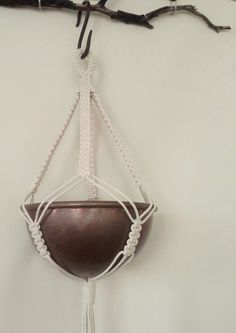 Macrame pot/ plant hanger. FisherKing