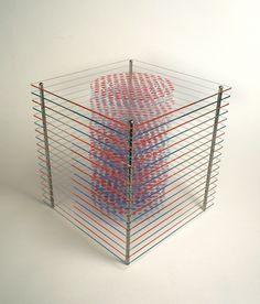 Orna Feinstein, Trunk in a Box, 2011, Printed plexi, metal, 12.25 x 11.5 x 11.5