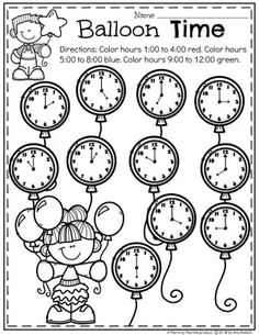 Looking for fun math centers and time and money worksheets? This set is filled with hands-on math activities to practice coin recognition, value of money and telling time. Money Worksheets, Kids Math Worksheets, Math For Kids, Fun Math, Kindergarten Math Activities, Preschool, Math Games, Learn To Tell Time, Learning English For Kids