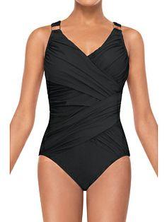 4613a384ed Spanx swimwear whittle waistline draped one piece