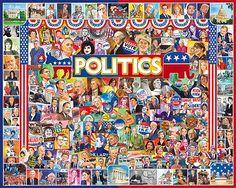 Politics -1000 Piece Jigsaw Puzzle-White Mountain Puzzles