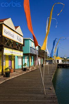 Heritage Quay shopping district in St. John's Antigua, Caribbean