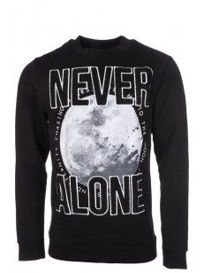 Blood Brother #Moon Print Sweatshirt in Black. #menswear #style #print #bold #statement #shop # online #designer #trend #mens #graphic