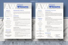 Project Manager Resume, CV templates by HIRED Design Studio on @creativemarket Resume Cv, Resume Writing, Resume Design, Cover Letter Template, Cv Template, Letter Templates, First Resume, Project Manager Resume, Microsoft