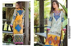Design # 02A From Zanisha Embroidered Kurti Collection 2015 By Al Zohaib