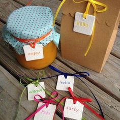 adorable clay gift tags