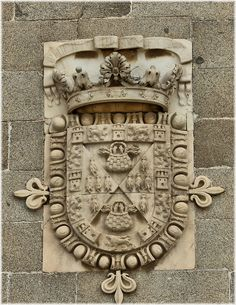 Escudo de Guzman y Pimentel -Most likely belonging to the Count-Duke of Olivares Loeches (Madrid)