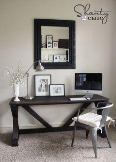 DIY Desk for Bedroom - Farmhouse Style