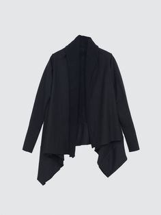 long sleeve wrap black