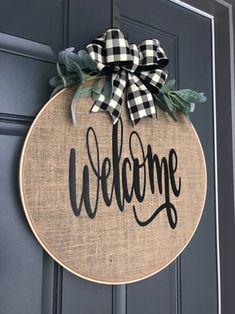 Spring Wreath for front door Burlap Wreath Hoop Wreath   Etsy
