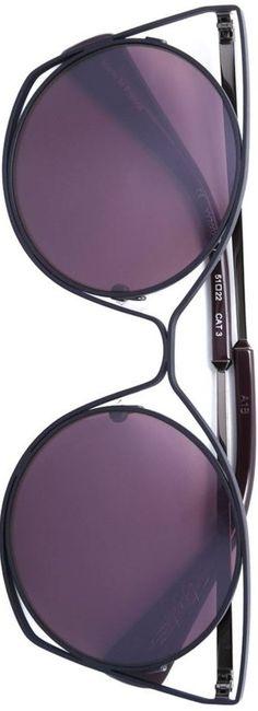 7f7cb3e3d3da YOHJI YAMAMOTO cat eye sunglasses