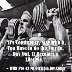 Wise words from bodybuilding legend Jay Cutler! Also click the image to read an interesting article on what to eat to gain muscle. Bodybuilding Routines, Bodybuilding Humor, Bodybuilding Nutrition, Bodybuilding Recipes, Natural Bodybuilding, Bodybuilding Supplements, Bodybuilding Motivation, Bodybuilding Women, Weight Lifting Motivation