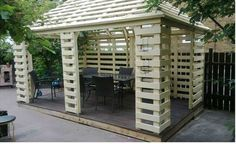 Pavilion Made From Recycled Pallets WP 20130710 002 Pallet pavillon in pallet garden pallet outdoor project with Pavilion pallet Garden Pallet Crafts, Diy Pallet Projects, Outdoor Projects, Pallet Ideas, Pallet Playhouse, Pallet Shed, Garden Pallet, Pallet Pergola, Pallet Boards