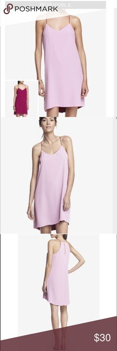 NWT Reversible cami dress Reversible dress, can be worn pink or purple side. Slight high low Express Dresses High Low