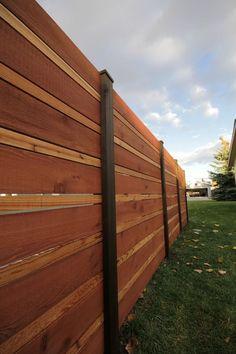 horizontal fence panels | Horizontal fence panels – modern garden fence design ideas | Kosip