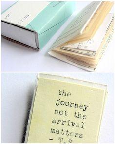 miniature travel scrapbook in a matchbox