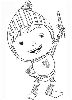 20 Mike the Knight printable coloring pages for kids. Find on coloring-book thousands of coloring pages. Preschool Puzzles, Preschool Books, Preschool Crafts, Activities For Kids, Coloring Pages For Kids, Coloring Books, Mike The Knight, Castle Crafts, Little Prince Party