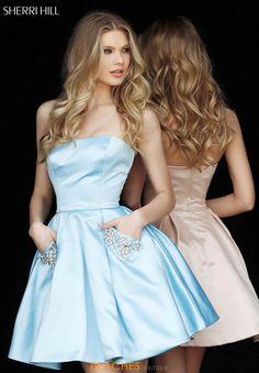 b71b2f1ebdc Sherri Hill Short Strapless A Line Dress 51390
