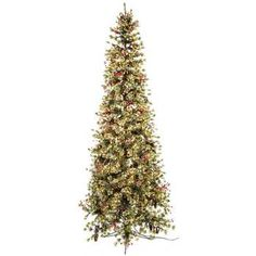 7 1/2' Fast Shape Slim Snow Pine with Lights | Hobby Lobby ...