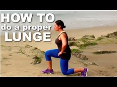 How to do a proper lunge exercise Fitness Tips, Fitness Motivation, Health Fitness, Lunges, Squats, Split Squat, Healthy Habits, You Can Do, Fitspiration