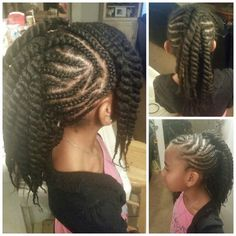 Awesome 1000 Images About Lil Girls Hair Styles On Pinterest Cornrows Short Hairstyles For Black Women Fulllsitofus