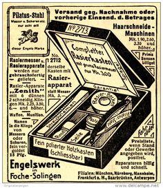 Original-Werbung/ Anzeige 1912 - RASIERKASTEN / ENGELSWERK - FOCHE - SOLINGEN - ca. 80 x 90 mm