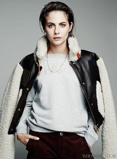 Actress Willa Holland Models Cozy Fashion for Who What Wear #winter #fashion trendhunter.com